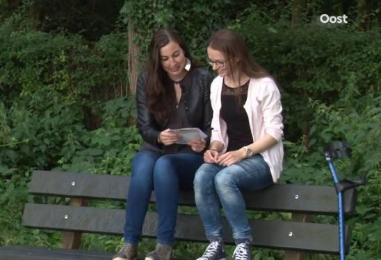 Tijdens de opnames van RTV Oost