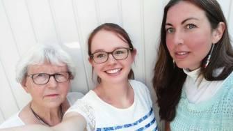 Een foto van ons bezoek aan een geïnteresseerde dame