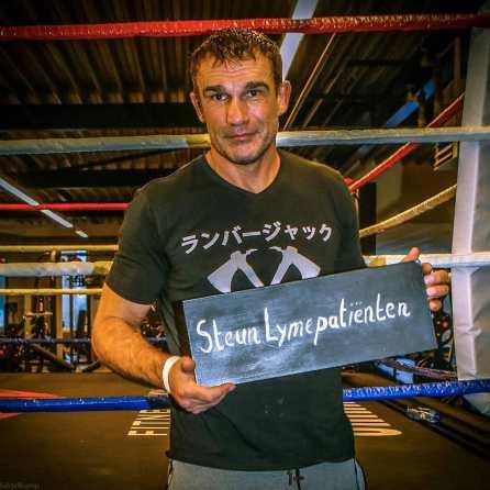Peter Aerts steunt Lymepatiënten